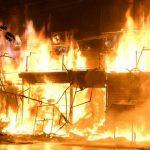 कपिलवस्तु मा आगलागी ९ घर २ गोठ जलेर नष्ट।।